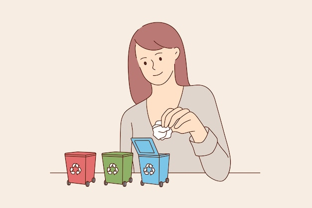 Środowisko, recykling śmieci, ochrona koncepcji ziemi.