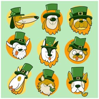 St. patrick day dogs