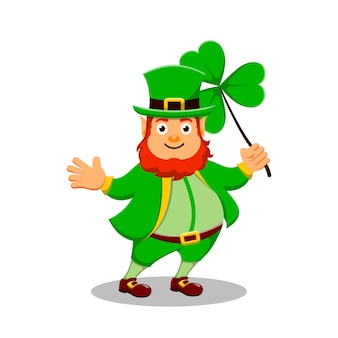 St patrick's day cartoon character leprechaun