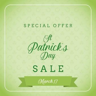 St patrick's day i oferta specjalna banner