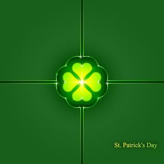 St patrick's day tło, abstrakcyjne geometryczne tło