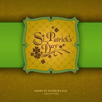 St patrick's day tło, wzór tapety bez szwu