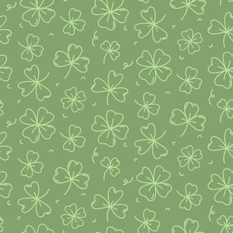 St patrick's day wzór tła bez szwu