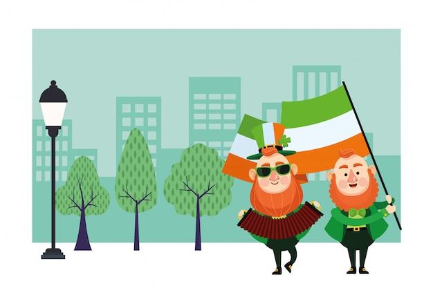 St patricks day elves cartoons