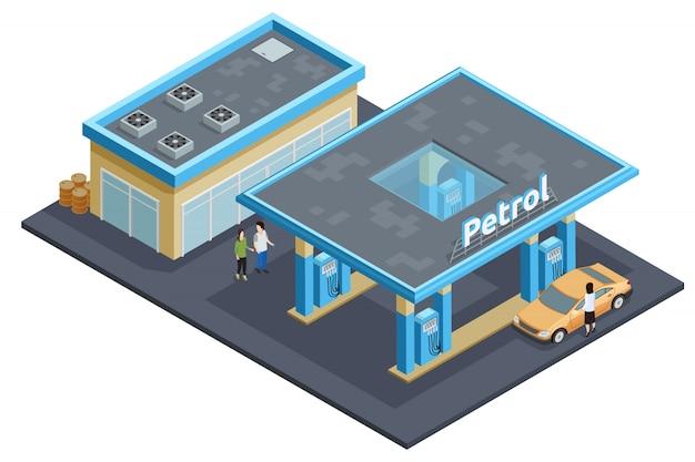 Stacja benzynowa do napełniania gazowych autostrad