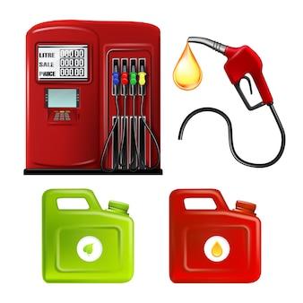 Stacja benzynowa wąż i kanistry