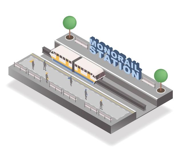 Stacja jednoszynowa