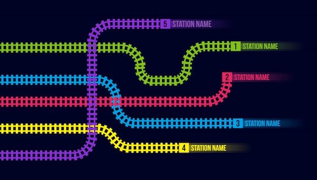 Stacja kolejowa lub mapa metra