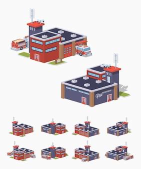 Stacja przeciwpożarowa low poly