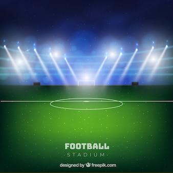 Stadion piłkarski w realistycznym stylu