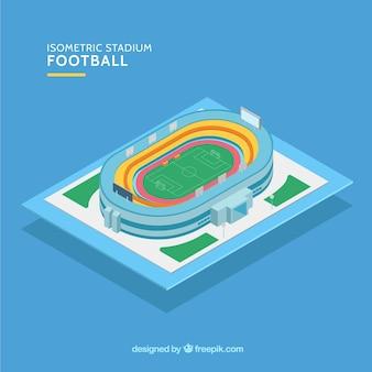 Stadion piłkarski w stylu izometrycznym
