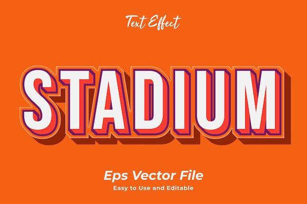 Stadion z efektem tekstowym edytowalny i łatwy w użyciu wektor premium