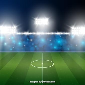 Stadionu futbolowego tło w realistycznym stylu