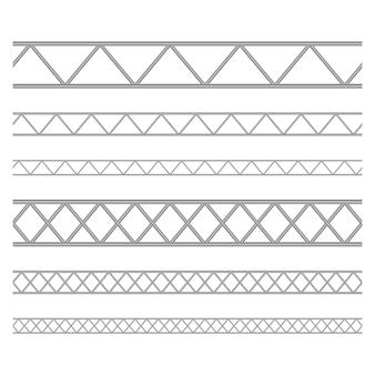 Stalowy dźwigar kratownicowy ilustracja na białym tle