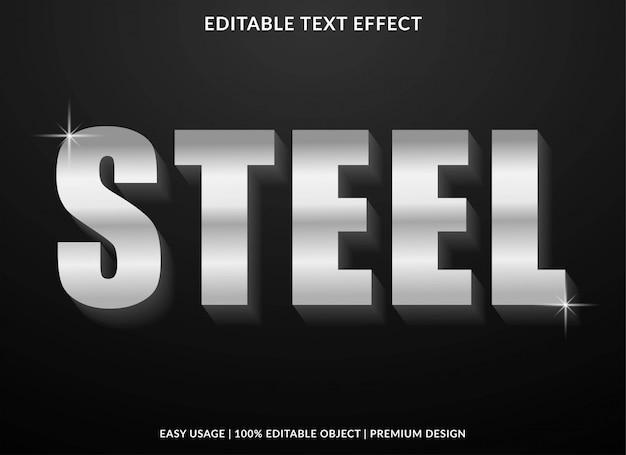 Stalowy efekt tekstowy w odważnym stylu 3d