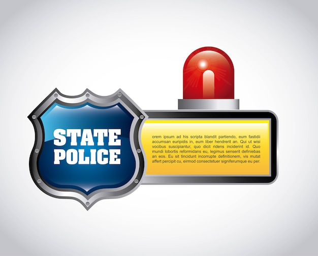 Stan policyjny projekt, wektorowa ilustraci eps10 grafika
