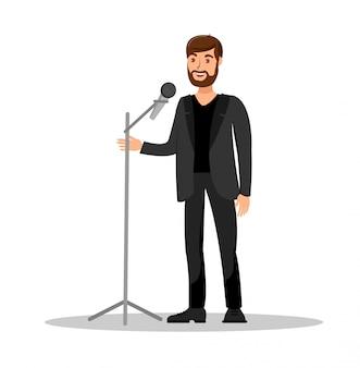 Stand up pokaż ilustracja kolor na białym tle