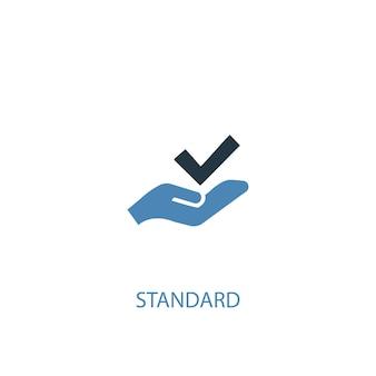 Standardowa koncepcja 2 kolorowa ikona. prosta ilustracja niebieski element. standardowa koncepcja symbol projektu. może być używany do internetowego i mobilnego interfejsu użytkownika/ux