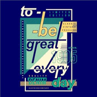 Stańmy się świetną codzienną typografią graficzną