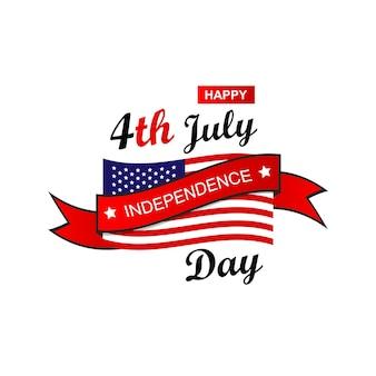 Stany zjednoczone ameryki 4 lipca dzień niepodległości logo odznaka ilustracja wektorowa eps 10