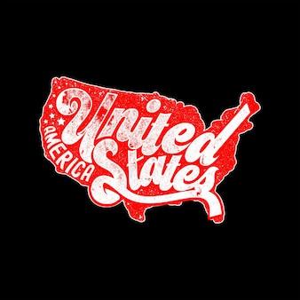 Stany zjednoczone ameryki vintage