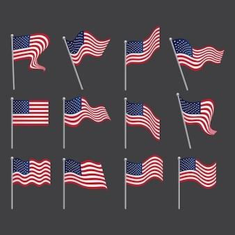 Stany zjednoczone kolekcji flagi