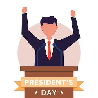 Stany zjednoczone, koncepcja dnia prezydenta.