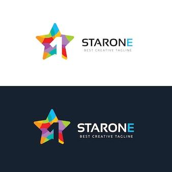 Star logo szablon