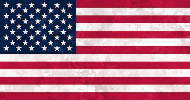 Stara, brudna flaga stanów zjednoczonych