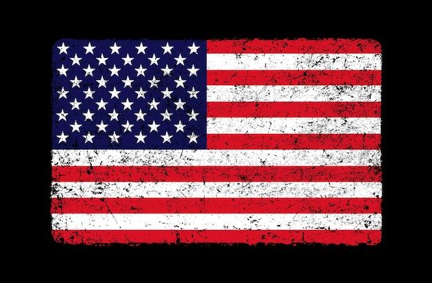 Stara flaga usa grunge