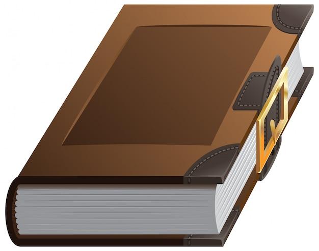 Stara gruba książka z zapięciem