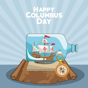 Stara karawela i projekt happy columbus day