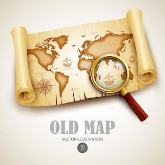 Stara mapa ilustracja