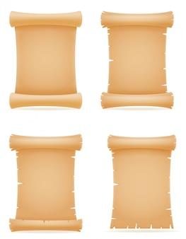 Stara papierowa ślimacznica wektorowa ilustracja