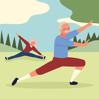 Stara para robi jogę