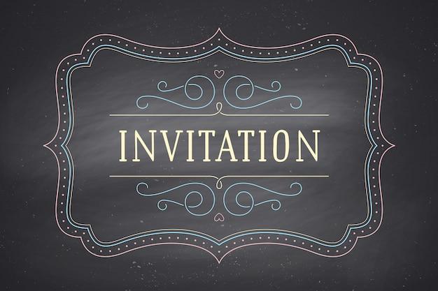 Stara rama z tekstu zaproszenie