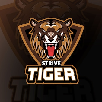 Staraj się tiger esport logo gaming