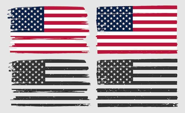 Stare brudne amerykańskie flagi