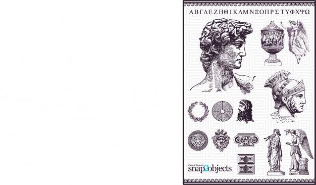 Stare elementy rome wektorowe