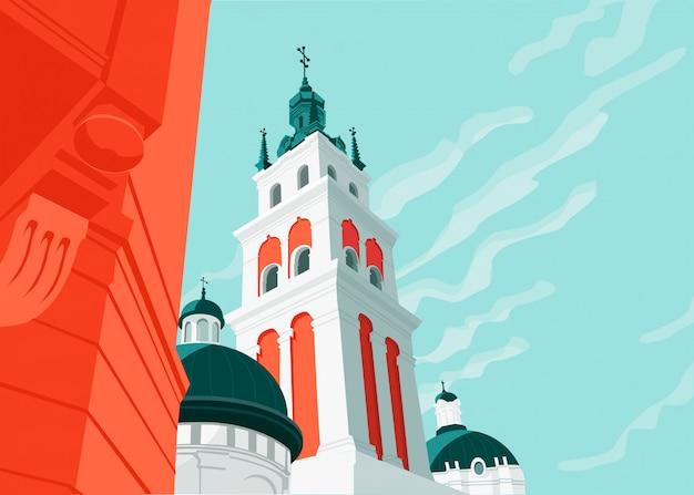 Stare kościoły miejskie i architektura wieżowa