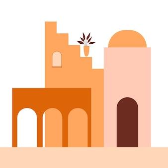 Stare miasto miasto budynek dom schody ulica element ikony