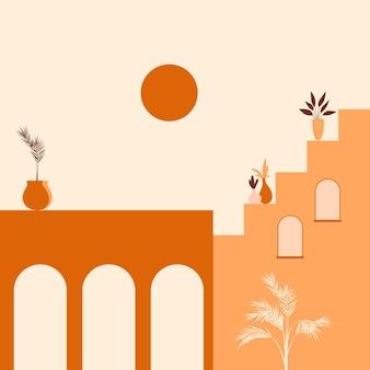 Stare miasto minimalistyczne boho
