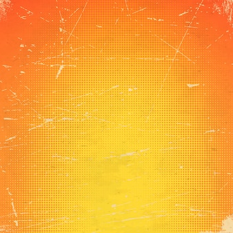 Stare pomarańczowe porysowane karty z gradientem półtonów
