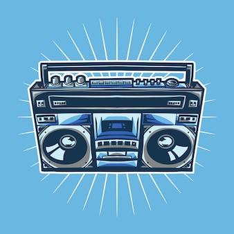 Starego radiowego compo ilustracyjny projekt
