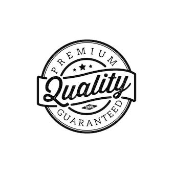 Starodawny znaczek jakości i elementy