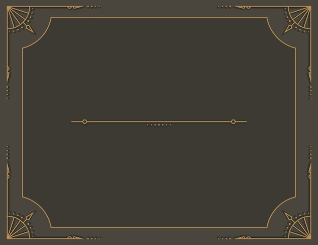 Staromodny rocznika steampunk tekst rama
