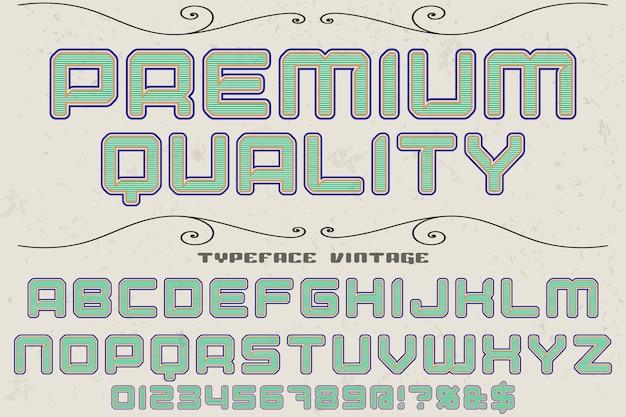 Staroświecki krój pisma projekt najwyższej jakości