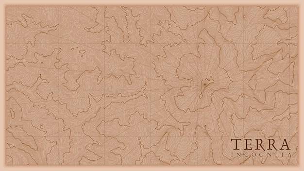 Starożytna abstrakcyjna ziemia reliefowa stara mapa