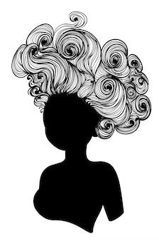 Starożytna fryzura rokoko