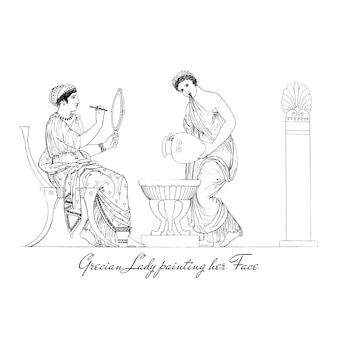 Starożytna grecja ilustracja